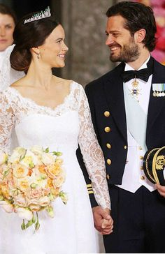The newly wed...Sweden's Prince Carl Philip today married former glamour model Sofia Hellqvist in an extravagant ceremony in the chapel at Stockholm's Royal Palace on June 13, 2015