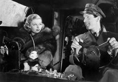 Joan Bennett and Fred MacMurray in Thirteen Hours by Air (1936)