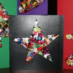 Sequined Homemade Christmas Cards
