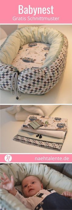 Sew baby nest yourself , Freebook - Sew baby nest yourself with instructions. Sew your own baby nest for your newborn with this ingenious guide. Baby nests are becoming increa. Sewing Patterns Free, Free Sewing, Sewing Hacks, Sewing Tutorials, Sewing Tips, Learn Sewing, Sewing Online, Sewing Courses, Baby Sewing