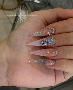 Eye catching Nails, best pin 5036924660 to try. Uncover nice inspiration now! - Eye catching Nails, best pin 5036924660 to try. Uncover nice inspiration now! Stiletto Nails Glitter, Aycrlic Nails, Swag Nails, Coffin Nails, Rhinestone Nails, Bling Nails, Fire Nails, Best Acrylic Nails, Pin On