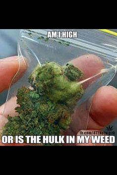 WEED HULK WOW! What a natural formation or the guys just too damn high.