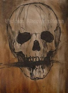 Horror Print Tormented Alexander X Art Death Skull Decapitation Cannibal Inferno