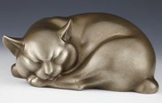 Tsuda Shinobu - Okimono or sculpture of a modernist cat. This and more important Asian art for sale on Curatorseye.com
