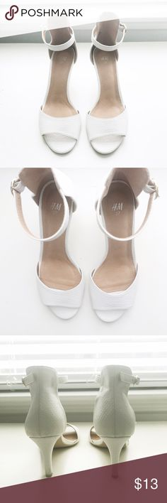 White heels from H&M size 7 no returns White heels from H&M no returns. H&M Shoes Heels