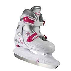 American Athletic Shoe Girl's Party Adjustable Figure Skates, White, X-Small/Size 6-9, Youth2-4 Years