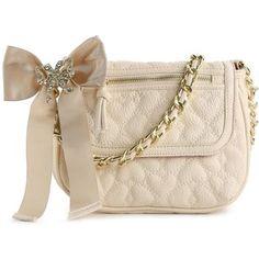 Betsey Johnson Handbags   Betsey Johnson Quilted Love Cross Body Bag