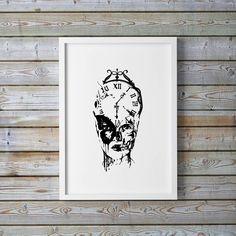 Tiden går livet består. Et vakkert bilde av en vakker dame. Bildet er i sort-hvitt. Plakaten er trykket i et begrenset opplag på 100 stk.