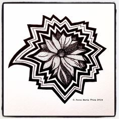 Flower by Anne Marie Price www.ampriceart.com #AMP #flower #drawing #ink #CA #LA Ink Pen Art, Journal, Amp, Drawings, Flowers, Cards, Black, Black People, Florals