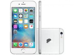 "iPhone 6 Apple 16GB Prata Tela 4,7"" Retina 4G - Câmera 8MP + Frontal iOS 8 Proc. M8 Touch ID"