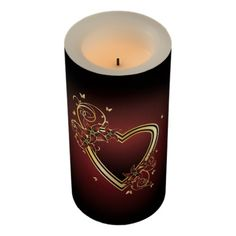 Classic Heart Medium Flameless Candle