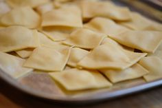 """Ravioli with potato filling, bacon and sage"" by @helleskitchen"