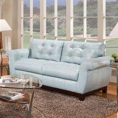 Light Blue Sofa ...like The Leather Just Too Bulky