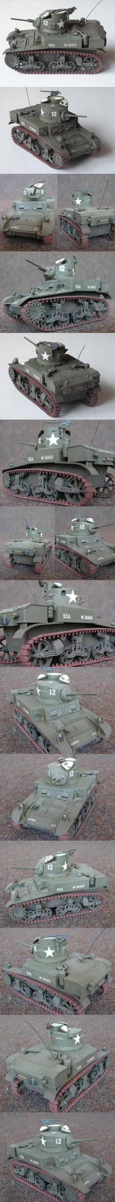 M3 Stuart 12 car, A Company, 32nd Armor Regiment, 3rd Armored Division Tamiya