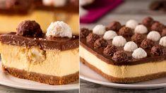 Nu am gustat în viața mea ceva mai bun - Ferrero Rocher Cheesecake.O cap. Cheesecake Ferrero Rocher, Rocher Torte, Romanian Desserts, Cake Decorating Videos, Angel Cake, Salty Cake, No Cook Desserts, Savoury Cake, Mini Cheesecakes
