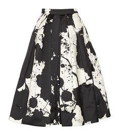 So unique & pretty // Tibi Printed silk-gazar skirt Full Skirts, Fancy Skirts, Midi Skirts, Fashion Beauty, Womens Fashion, Trends, Holiday Outfits, Dress Me Up, Passion For Fashion