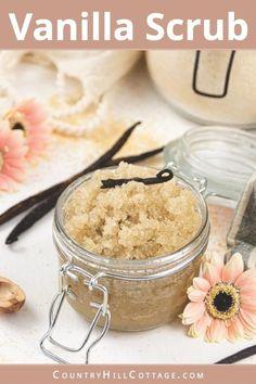 Body Scrub Recipe, Sugar Scrub Recipe, Diy Body Scrub, Diy Scrub, Coffee Body Scrub Diy, Exfoliating Body Scrub Diy, Sugar Hand Scrub, Honey Sugar Scrub, Coconut Oil Sugar Scrub