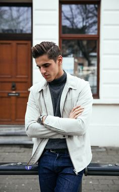 men's fashion - how to wear a suede jacket