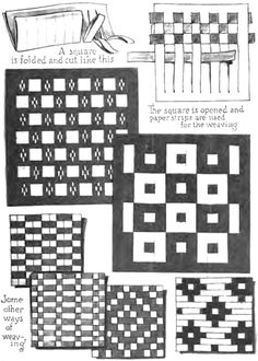 How to Weave Paper Together. A little homemade checkerboard research.