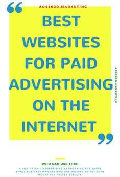 websites for paid ads