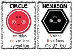 FREEBIE! Shapes (Mini Posters) for the Primary Classroom.