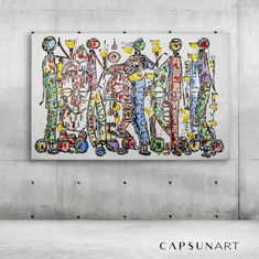 Original Painting on Canvas by Thabi Art Fusion. Available on capsun-art.