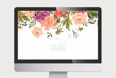 May Floral Calendar Download (website inspiration.. maybe have hive bits at the top instead?)