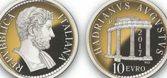 10€ gold coin to commemorateHadrian