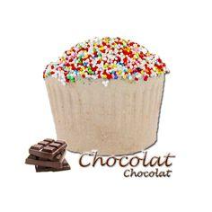 ✭ Bombe de bain muffin chocolat - 190gr d''effervescence pour 2 bains ✭