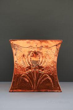 Antiques Atlas - Arts And Crafts Copper Botanical Planter Antique Copper, Brass, Rose Gold Theme, Copper Work, Copper Planters, Copper Accessories, Art And Craft Design, Copper Kitchen, Arts And Crafts Movement