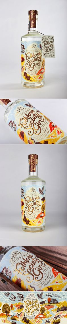 Check Out The Whimsically Colorful Packaging For Folklore Society Gin — The Dieline | Packaging & Branding Design & Innovation News