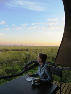 A relaxing evening at #Okuti, #Botswana, #Africa
