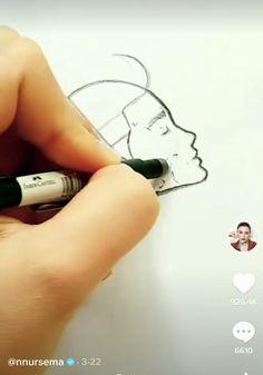 3d Art Drawing, Art Drawings For Kids, Art Drawings Sketches Simple, Pencil Art Drawings, Easy Drawings, Art Drawings Beautiful, Diy Canvas Art, Drawing Techniques, Art Tutorials