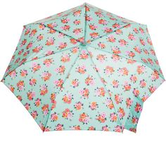 Wedding flowers and weather protection in one little package! Rain won't ruin your wedding day with our Signaure Micro 'brella. It folds compact to fit into any bag and is stylish enough for the whole wedding party. #totesraingear
