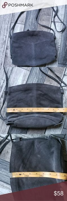 URBAN OUTFITTERS COOPERATIVE gray suede crossbody Charcoal gray crossbody bag. Zip closure. Great condition Urban Outfitters Bags Crossbody Bags