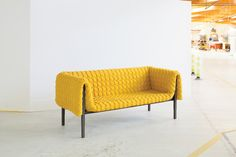 Ruché sofa designed by Inga Sempé for Ligne Roset. Photo by: Nicholas Calcott | Read about the process here: http://www.dwell.com/articles/ruche-sofa.html