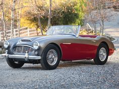Wallpaper austin healey highway autumn coupe sports car cabriolet out of town Vintage Sports Cars, British Sports Cars, Classic Sports Cars, Retro Cars, Vintage Cars, Antique Cars, Old Sports Cars, British Car, Austin Cars