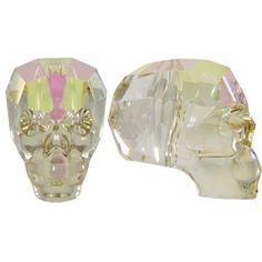 SWAROVSKI 5750 Skull Beads 19mm Crystal Luminous Green