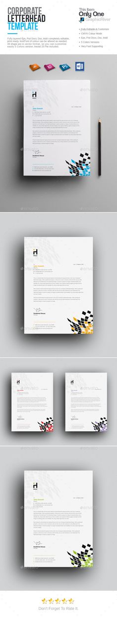 Corporate Letterhead Template Letterhead template and Letterhead - free word letterhead template