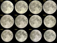 from pixheaven.net                                             All Full Moons look the same. So, once you've seen one, you don't need to observe it again. In fact, you're wrong!  This composite show 12 successive Full Moons caught from May 2005 to April 2006. And you can notice that its diameter and its looks isn't the same (because of the Moon's libration). See this high definition version (2100 x 1575 pixels) to convince yourself. Those changes are more impressive in those animations…