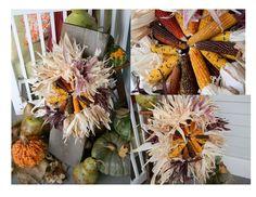 Indian Corn Wreath.
