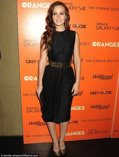 Who's that girl?: Leighton Meester was the talk of the town as she shone at the premiere of the latest film, The Oranges