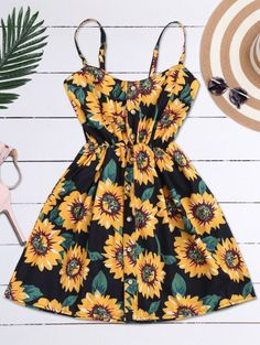 SHARE & Get it FREE | Cami Smocked Floral Mini Dress - Black One SizeFor Fashion Lovers only:80,000+ Items • New Arrivals Daily Join Zaful: Get YOUR $50 NOW!