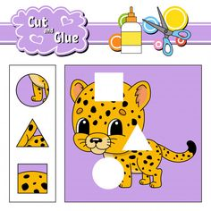 Cut and glue for kids Logic Puzzle Games, Logic Puzzles, Shapes Worksheets, Worksheets For Kids, Preschool Curriculum, Preschool Math, Free Characters, Free Cartoons, Free Education