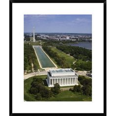 Global Gallery 'National Mall, Lincoln Memorial and Washington Monument, Washington D.C.' by Carol Highsmith Framed Photographic Print Size: