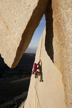 patagonia:  Sandstone Stoke. Photo by Jeff Johnson. Would you ever try this??!!.