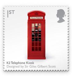 British telephone box stamp