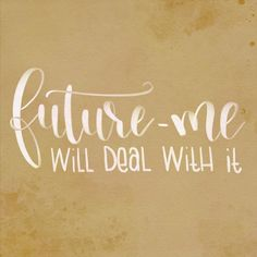 Future me will deal with it Hand Lettering, Arabic Calligraphy, Future, Instagram, Simple, Future Tense, Handwriting, Arabic Calligraphy Art, Calligraphy
