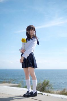 Check out these Japanes theme cosplay characters. Cute School Uniforms, School Uniform Girls, Girls Uniforms, Beautiful Japanese Girl, Japanese Beauty, Asian Beauty, Fashion Poses, Girl Fashion, Cosplay
