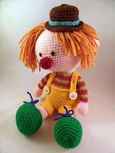Casimier the Clown amigurumi pattern by Pii_Chii